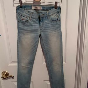 Hollister Light Wash Super Skinny Jeans Size 1